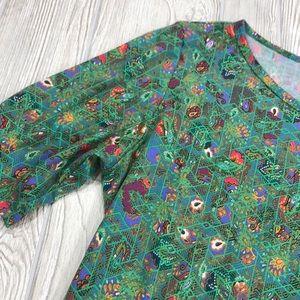 LuLaRoe green Julia Dress - sz 3XL